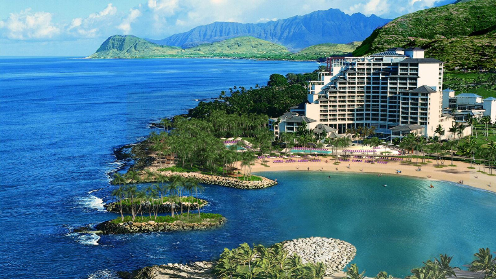 位于夏威夷第三大岛屿的欧胡岛科奥利纳四季度假酒店