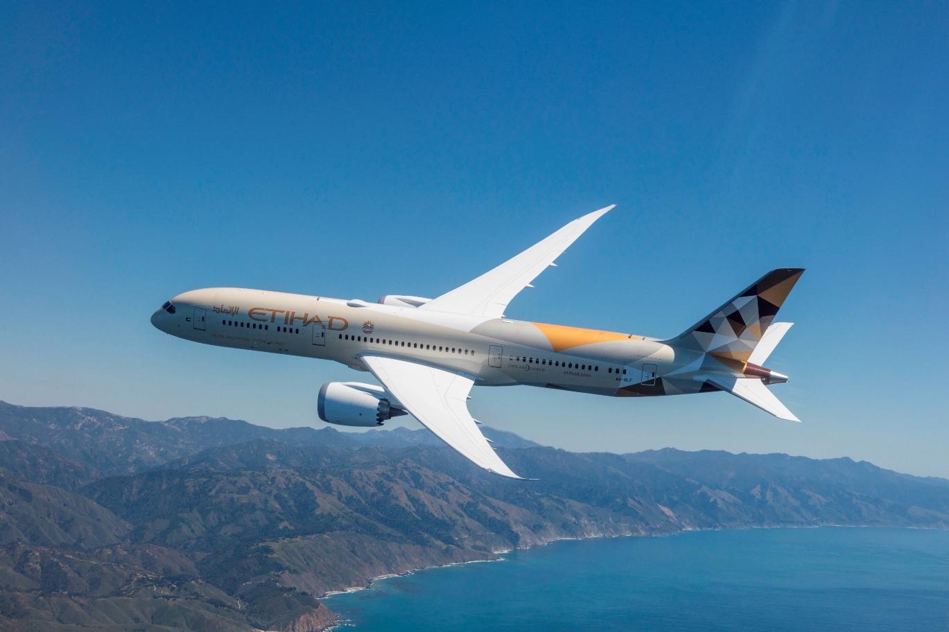 阿提哈德航空新一代波音787客机开始执飞阿布扎比-贝鲁特航线